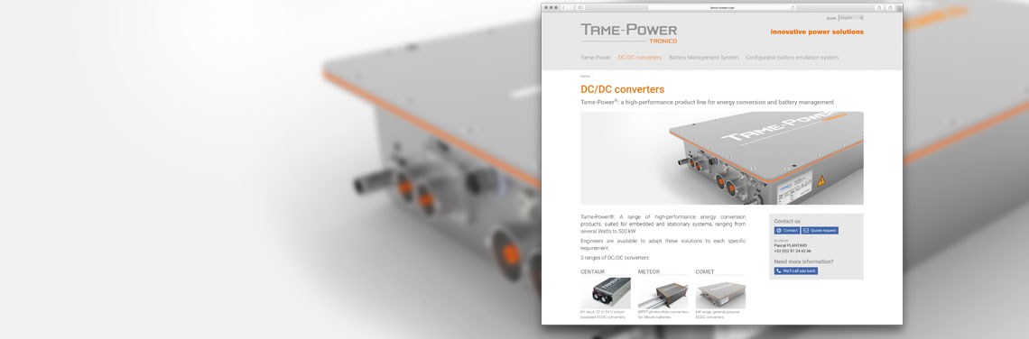Convertisseur DC-DC TAME-POWER par TRONICO